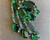 Vintage Large Green & Blu...