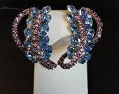 Huge Vintage Blue & Pink ...