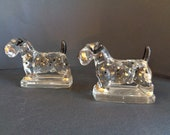 Pair Heisey Glass Scottie...