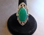 Antique Art Deco Green On...