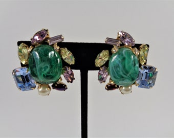 Alice Caviness Fabulous Fakes Feature Book Clip Earrings