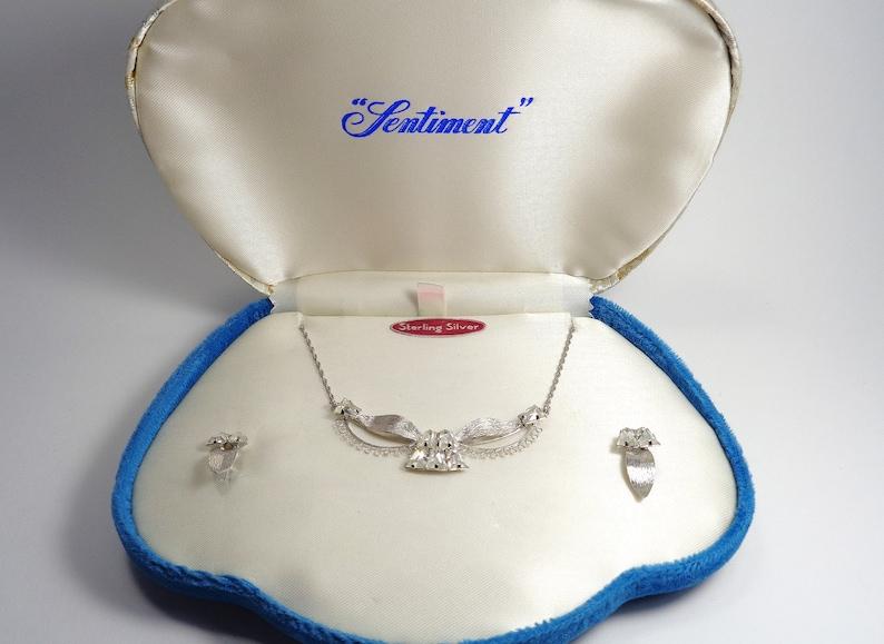 Vintage Star Art Sentiment Sterling Silver Boxed Necklace & image 0