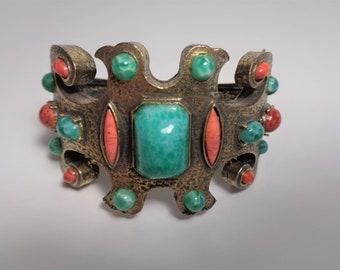 Vintage Les Bernard Estruscan Clamper Clamp Bracelet