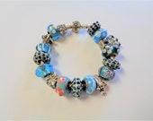 Authentic Pandora Sterling Eurobeads & Animals 16 Charm Bracelet