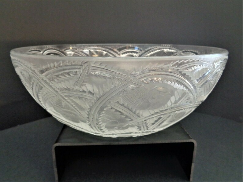 LALIQUE FRANCE Pinsons Finches Clear and Frosted Glass 9 1/4 image 0