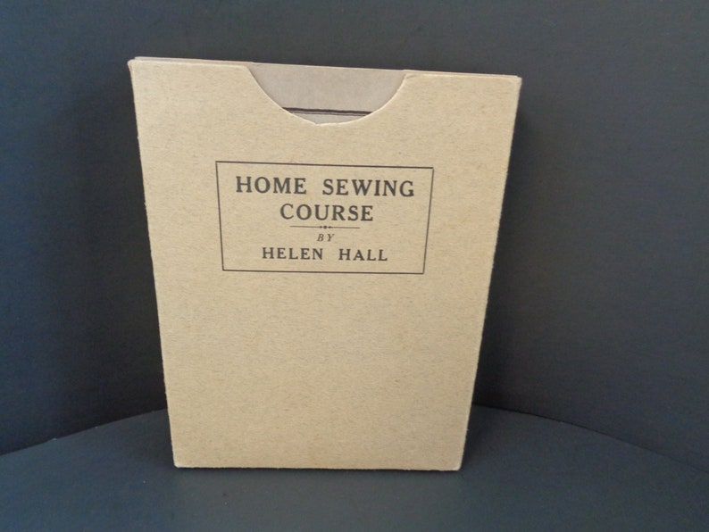 Home Sewing Course by Helen Hall Series 1-8 Booklets Copyright image 0