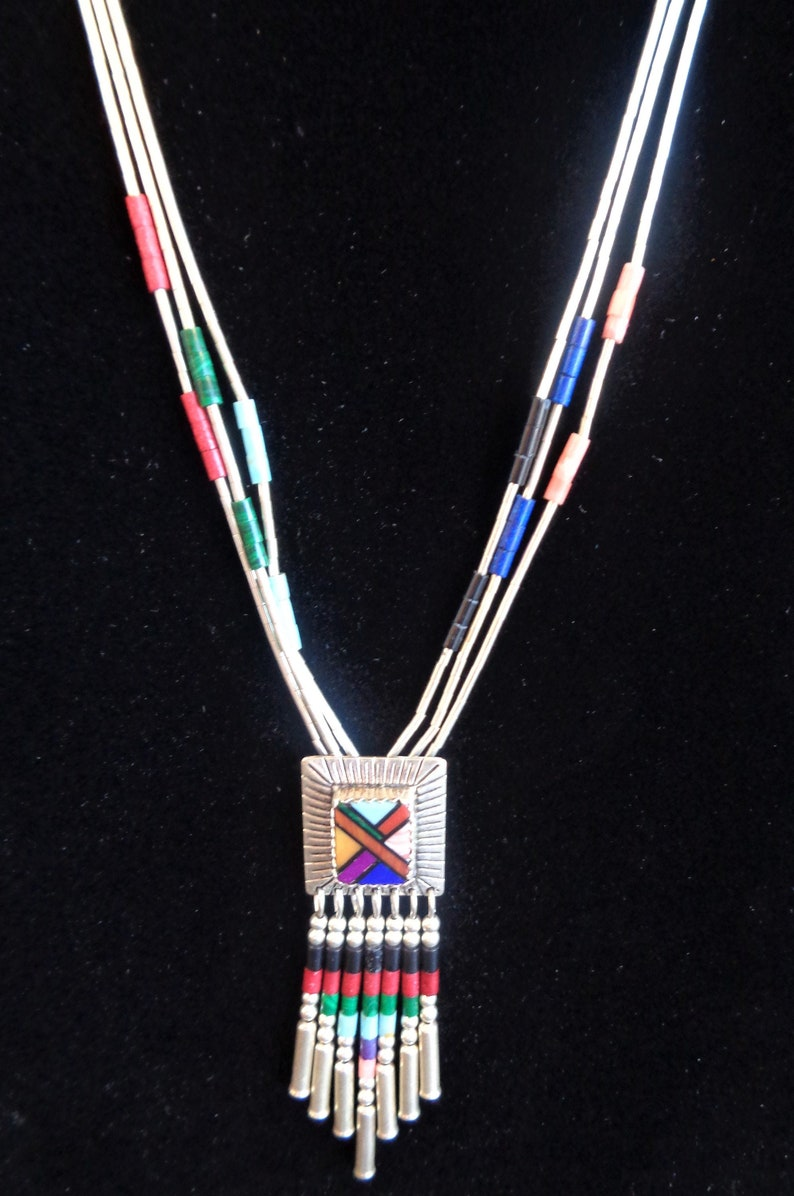 Contemporary QT Sterling Liquid Silver Necklace & Coordinating image 0