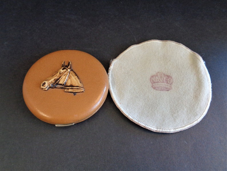 Unusual Vintage 1940's Mavco Compact with a Horse Head image 0