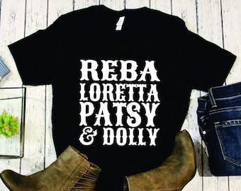 88897fd3a1a Reba Loretta Patsy   Dolly T-Shirt
