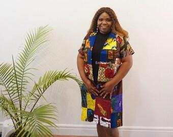 AFRICAN PRINT KIMONO, Multiple Ankara Fabric Kimono, Ankara Jacket, Women Ankara Kimono, Women African Print Kimono, Edia Styles, Fall Style