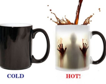Surprise Gift Magic Mug (Heat Sensitive, Color changing) - The walking dead Ceramic 11oz Coffee Mug