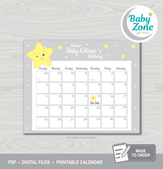 Baby Shower LS1 Baby Shower Game Guess The Baby Birthday Game Guess Baby Birthday Game Twinkle Little Star Baby Birthday Prediction Game