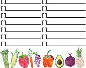 Grocery List Notepad