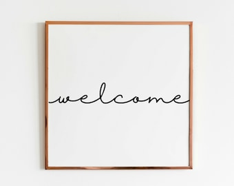 welcome office print etsy