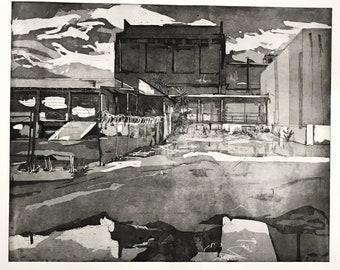 "10, Original Intaglio Print, 30"" x 24"""