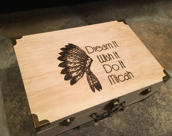 Indian keepsake box, keepsake box, Childrens, dream it, wish it box