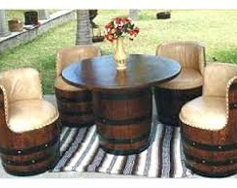 Wine Barrel Chairs Etsy