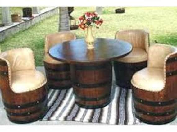image 0 - Full Outdoor Wine Barrel Patio Set Etsy
