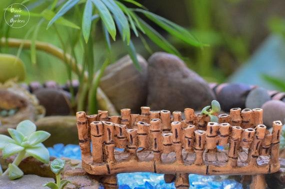 Miniature Bridge And Optional Fairy Garden River Water Etsy
