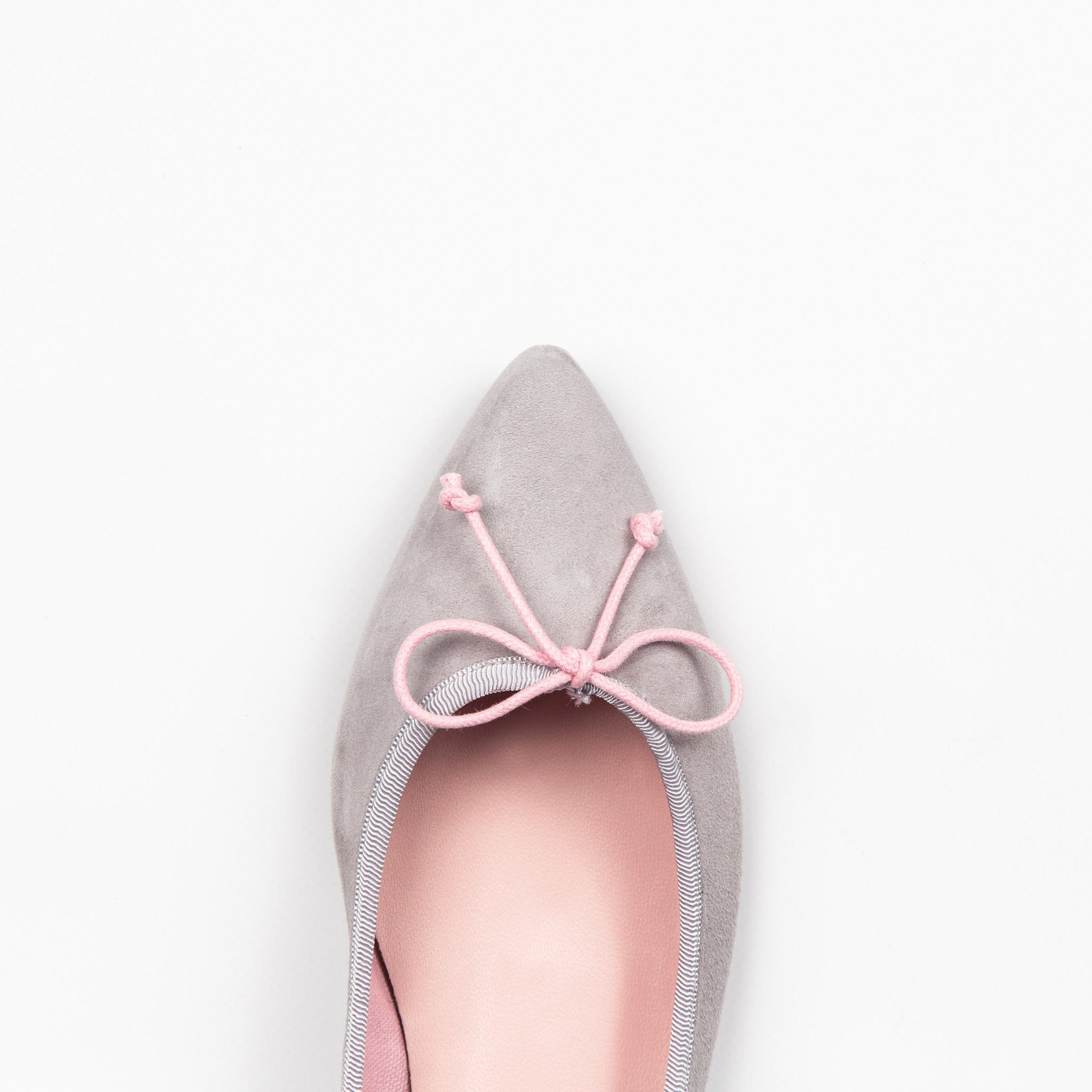 grey ballet flats | grey suede shoes | elegant women shoes | pointed toe flats | global free shipping | ava costa