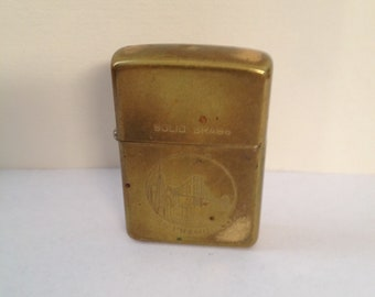 Zippo  solid brass San Francisco lighter 1987 in working condition