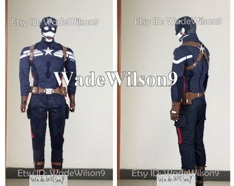 0edad5951a06 Steve Rogers Cosplay Costume Captain America The Winter Soldier Cosplay  Costume Handcraft Size