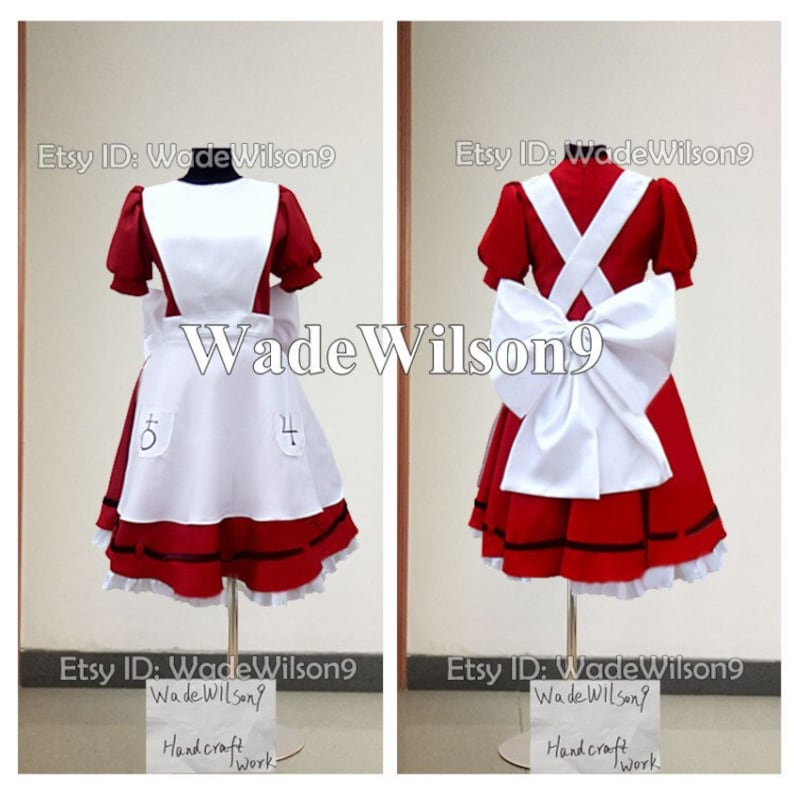 27618fdbc9645 Alices Adventures in Wonderland The Art of Alice Madness Returns Cosplay  Costumes Handcraft Size