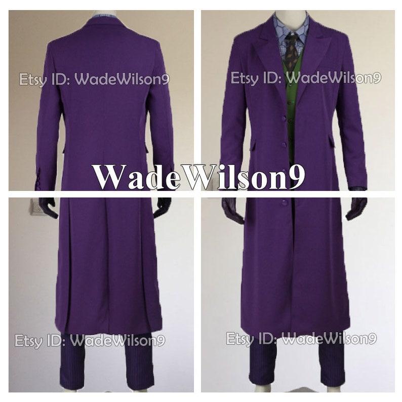 ba4a71ecd2f9f Batman:The Dark Knight Joker Cosplay Costume Handcraft Size | Etsy