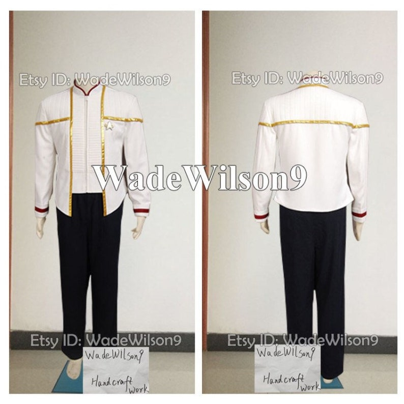 Star Trek Insurrection Nemesis Mess Dress Uniform White Custom Made