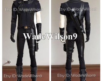 Hawkeye Clint Barton Captain America Civil War Cosplay Costume Handcraft Size
