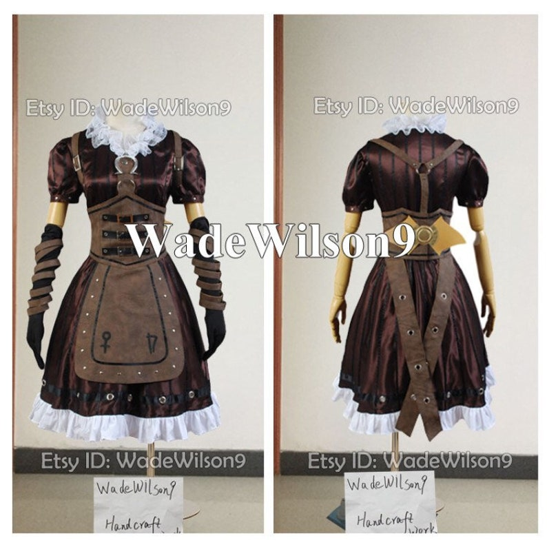 0c3f975d120fd Alice Madness Returns Alice Cosplay Costume Handcraft Size