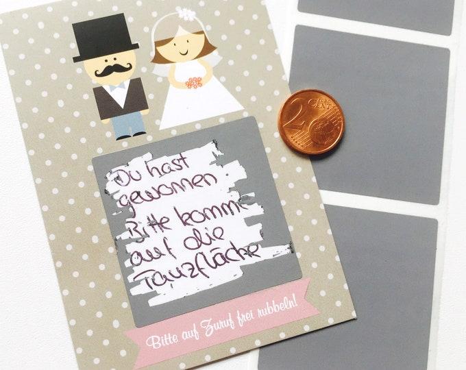 Guest Gift Wedding Scratch cards