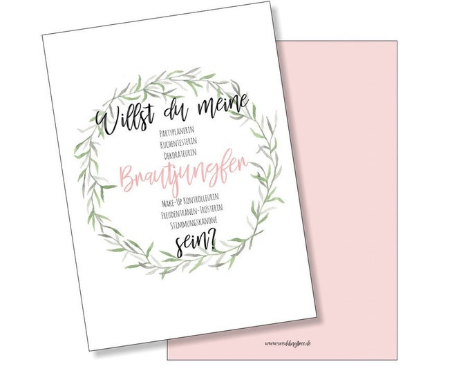 Wedding card you want to be my bridesmaid? Postcard