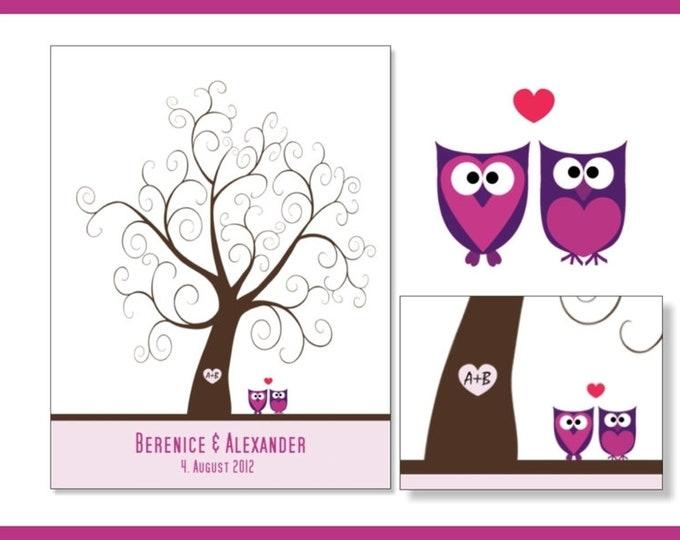 "Stamp Me Wedding Tree ""owl""(PDF)"