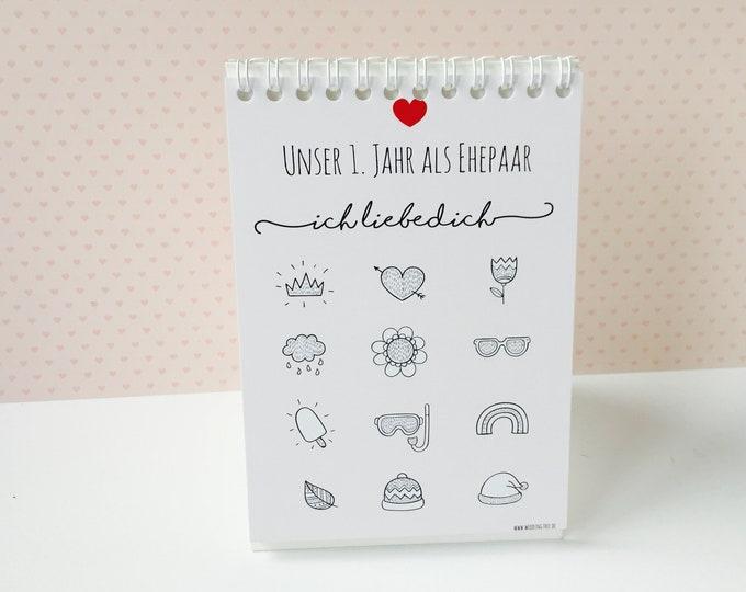Wedding Gift Voucher Calendar