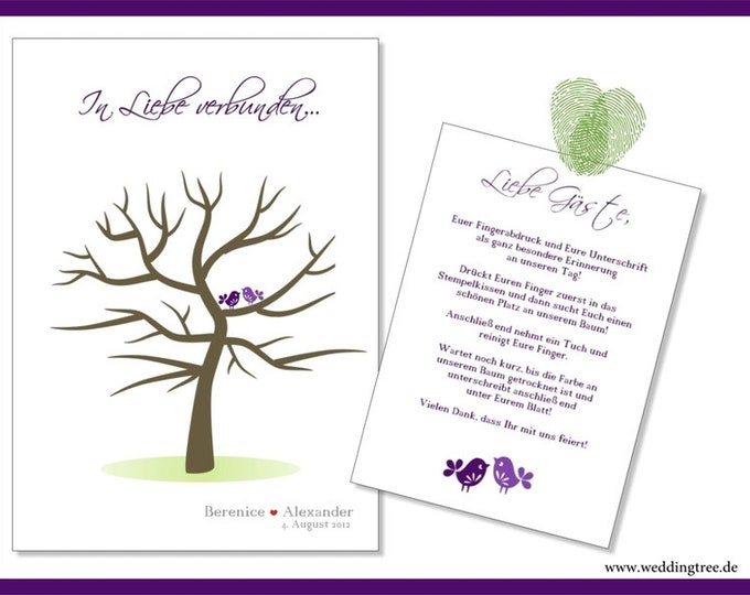 Stamp Me Wedding Tree Guest Signature (PDF)