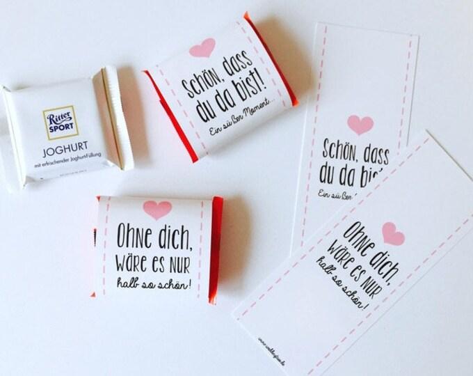 Wedding gift, chocolate bands, chocolate bands, Hochzeitsdeko, table decorations, candybar, wedding guest Gift