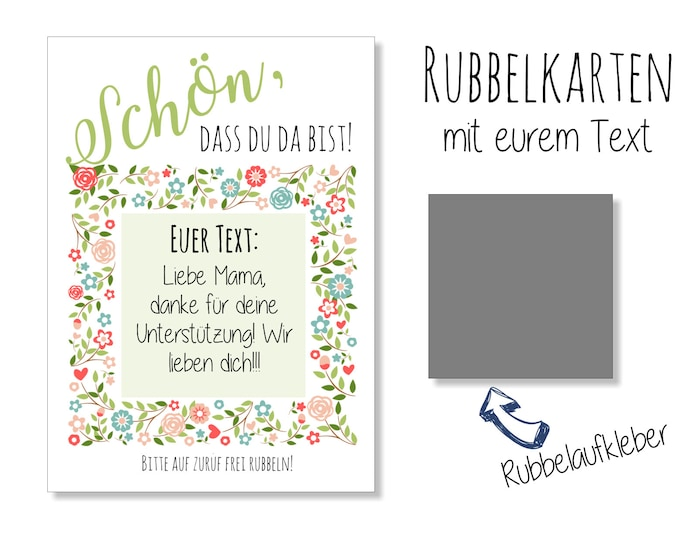 Guest Gift wedding-Scratch cards Boho