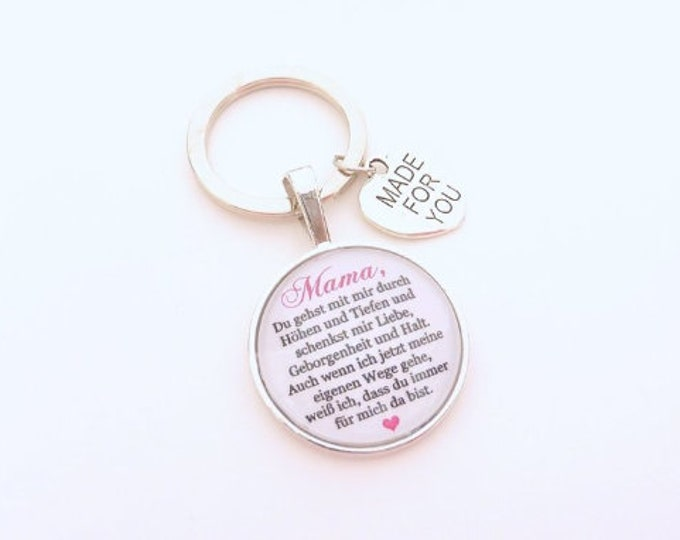 Gift Mom, Individual Keyring, Keyring Gift to Wedding, Bridal Mother, Mother groom, guest gift, bride