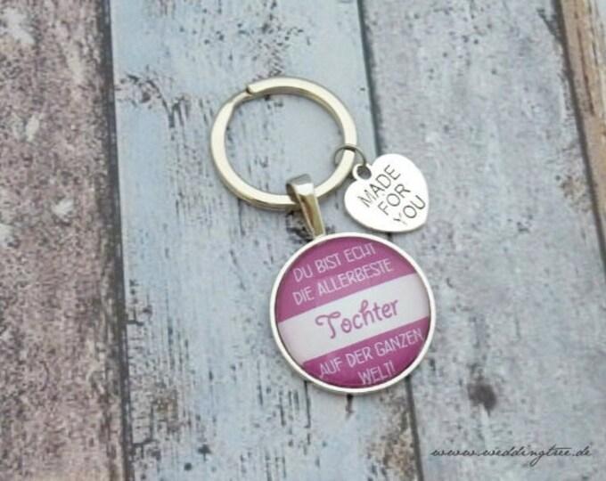 Best daughter pendant, keychain, very best daughter, mom, mom, dad, birthday, dad, parents, keepsakes, love, happiness