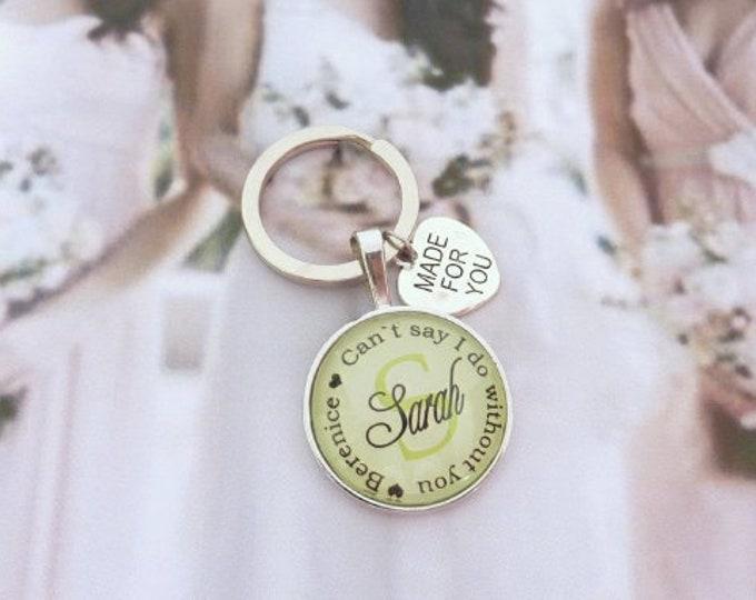 Gift Trauwitness, personalized keychain, gift girlfriend of the bride, keychain gift to wedding