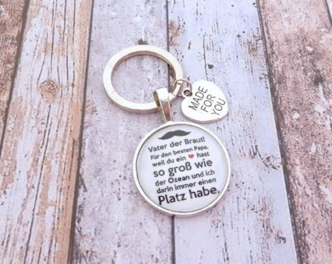 Gift Dad, Individual Keyring, Keyring Gift to Wedding, Bridal Father, Father groom, Guest Gift, Bride