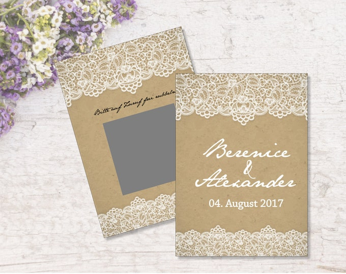 Guest Gift wedding Scratch cards Personalized