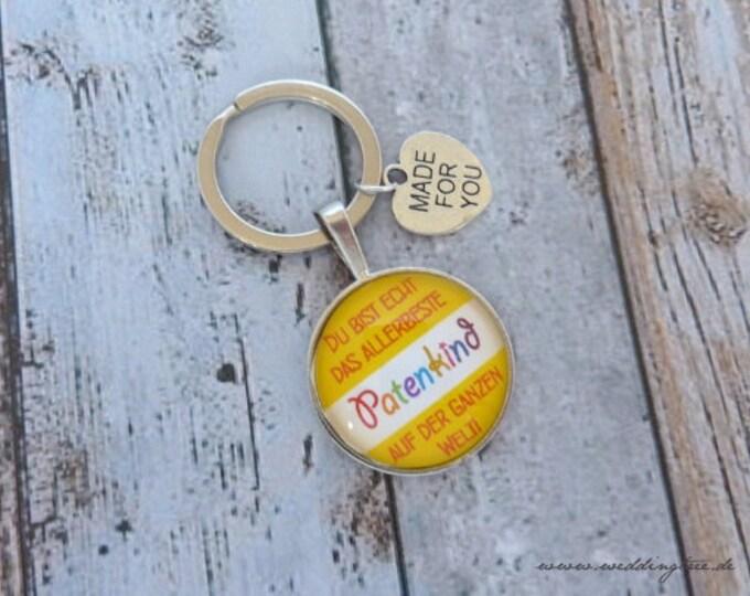 Patenkind pendant, keychain, patent aunt, gift for baptism, goduncle, birth, baptism, gift godchild