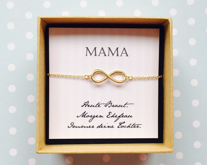 Gift Bridal Nut-bracelet infinity in enchanting gift box with card