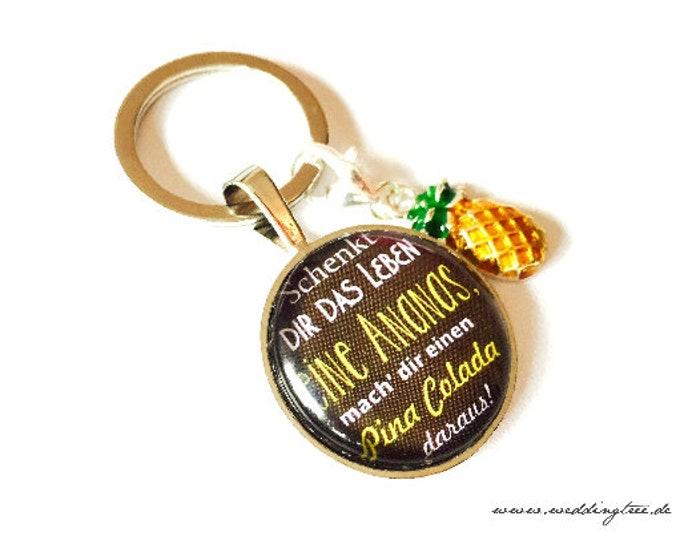 Pendant Pineapple, Key, Keyring, Pina Colada, Gift Girlfriend, Keyhandover, New Apartment, Home
