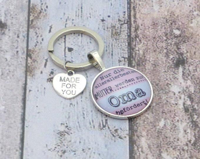 Omi pendant, keychain, grandmother, grandchild, gift grandma, Mother's Day, birthday, birth, baptism, baby, grandpa, We are pregnant