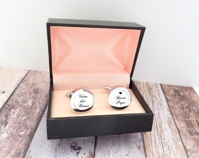 Cufflinks Father of the Bride, Best Dad, Bridal Father, Wedding, Wedding Accessories, Brewing Tears, Bride, Bridegroom, Gift Man