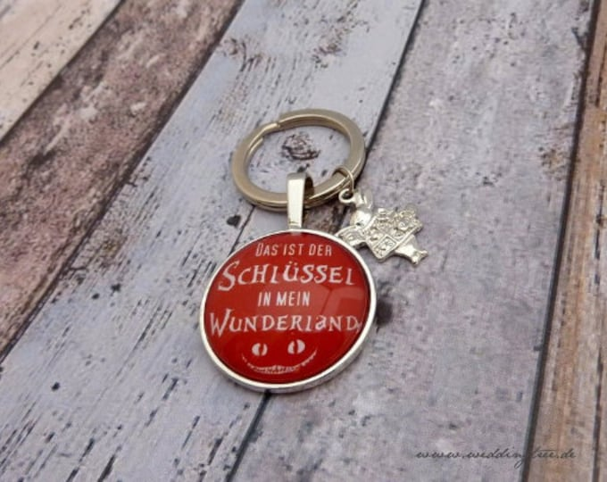 Pendant Wonderland, Key, Keyring, Gift to move in, gift to pull together, key handover, new apartment, home