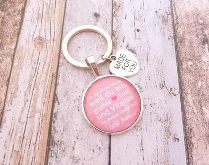 Gift mom, personalized keychain, keychain gift to wedding, birthday mom, bridal mother,